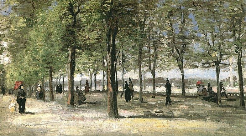 Vincent van gogh the paintings lane at the jardin du - Analyse du tableau la chambre de van gogh ...