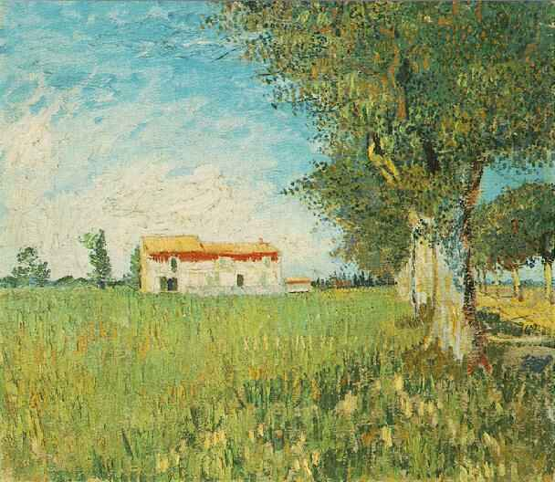 Vincent Van Gogh The Paintings Farmhouse In A Wheat Field