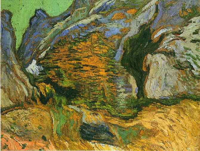 Vincent van gogh the paintings les peiroulets ravine