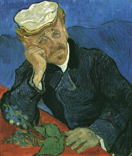 The portrait of Dr Gachet by Van Gogh in the Musée d'Orsay