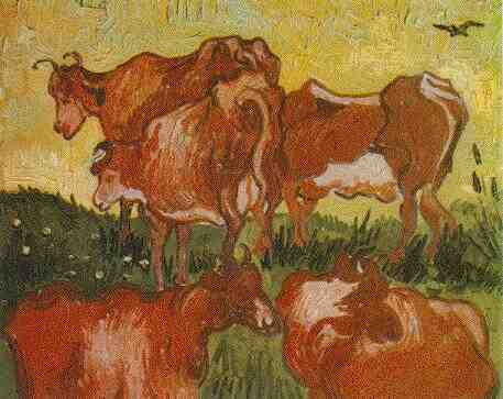 Click here to see the full scale version of 'The Cows'